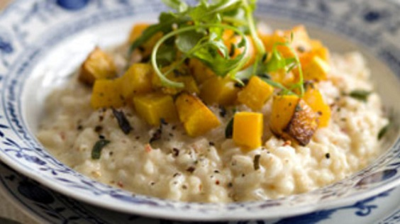 Squash Tomato and Chive Risotto