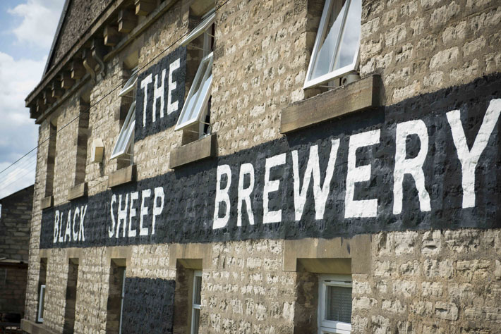 Story of Black Sheep Brewery Masham wall