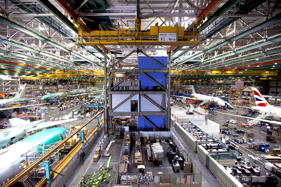 Ten Beautiful Factories Around the World boeing manufacturing site