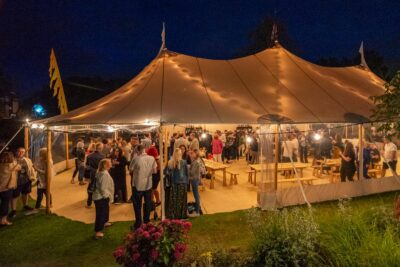 Tents Landscape, Theakston Old Peculier Crime Writing Festival