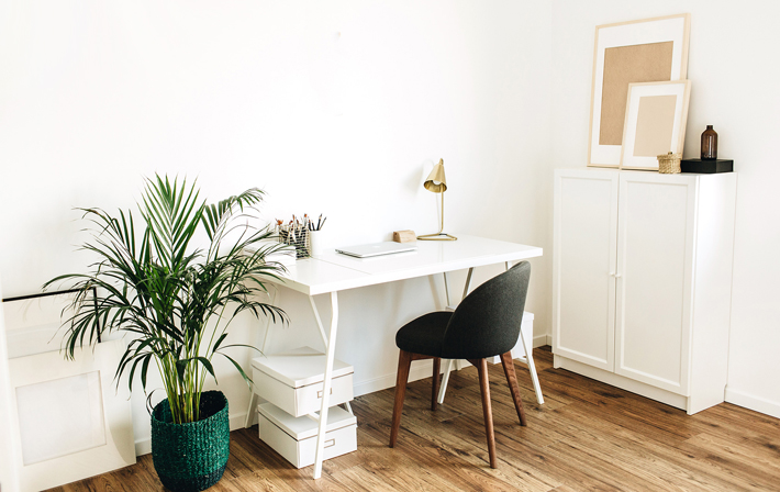 The Best Flooring for a Home Office engineered wood