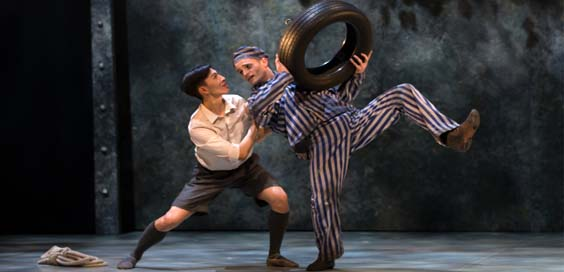 The Boy in the Striped Pyjamas review west yorkshire playhouse Matthew Koon as Bruno and Nicola Gervasi as Pavel
