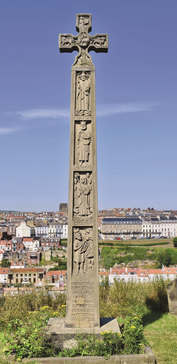The First Poet The Story Behind the Caedmon Memorial in Whitby monument