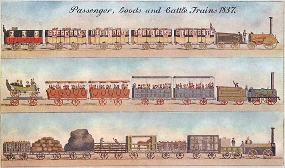 The Manchester and Leeds Railway history lancashire postcard