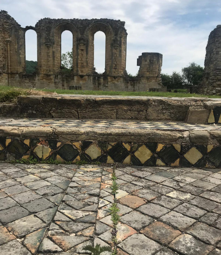 The Mosaics at Byland Abbey yorkshire
