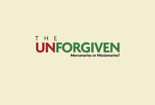 The Unforgiven Mercenaries or Missionaries by Ashley Gray book Review cover logo