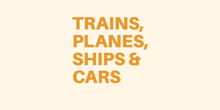 Trains, Planes, Ships & Cars by James Hamilton-Paterson book Review cover main logo