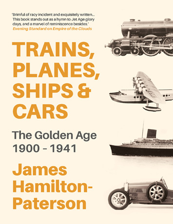 Trains, Planes, Ships & Cars by James Hamilton-Paterson book Review cover
