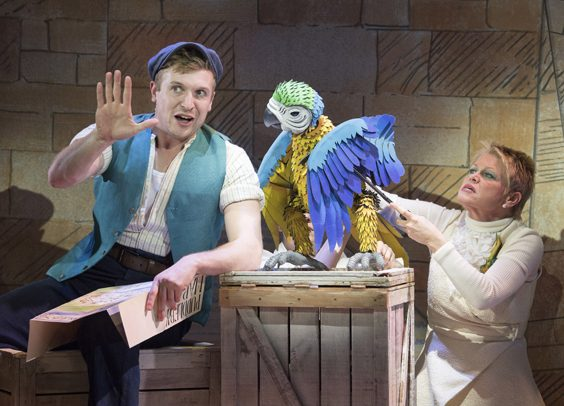 Vicky Entwistle interview doctor dolittle parrot stage