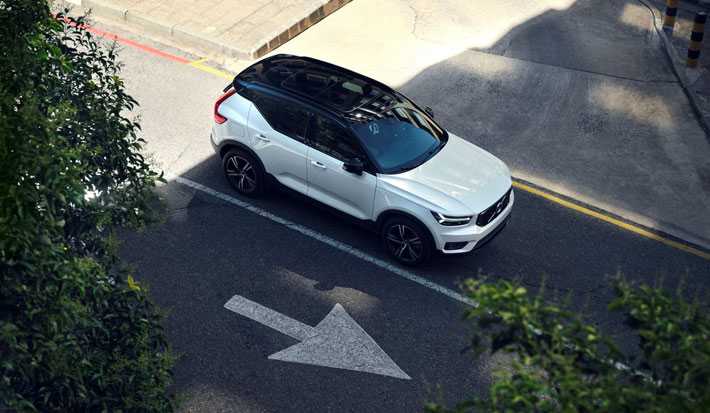 Volvo XC40 Recharge PHEV Hybrid Car Review aerial