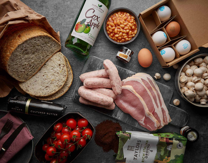 Wellocks Luxury Bruch Recipe Box Review sausages