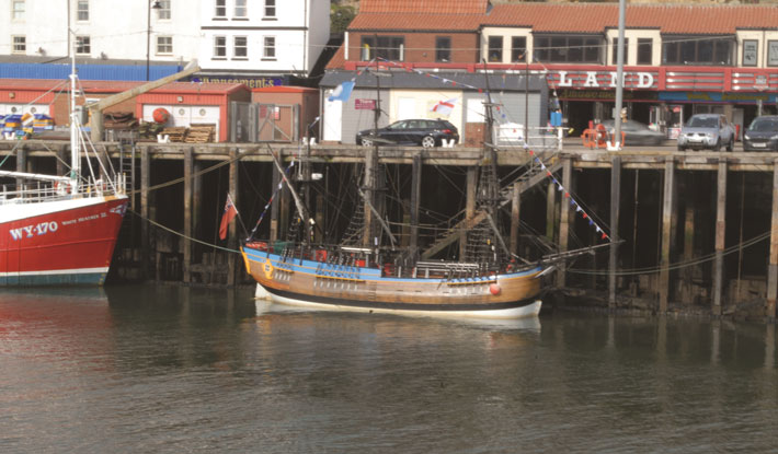 Whitby and Captain Cook's Endeavour harbour