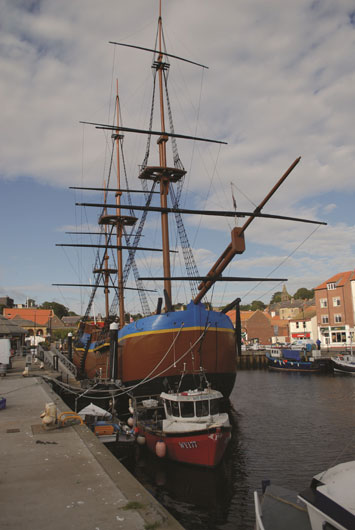 Whitby and Captain Cook's Endeavour replica