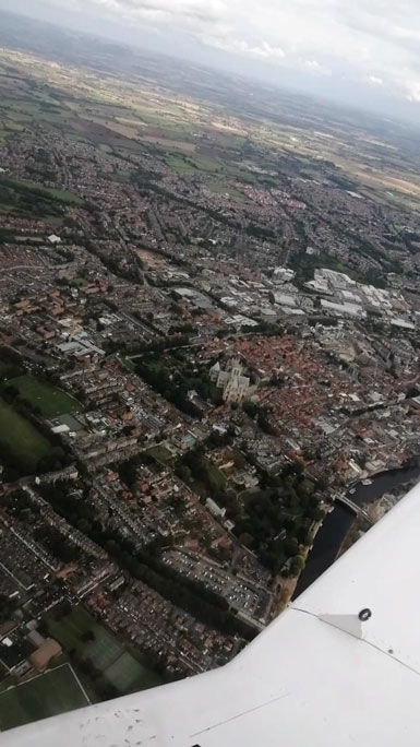 Wingly Flight York to Hull Review view