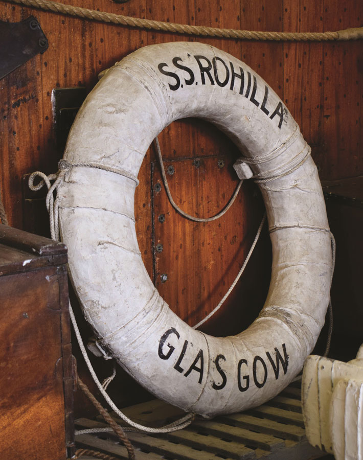 Wreck of the Rohilla in Whitby lifebuoy