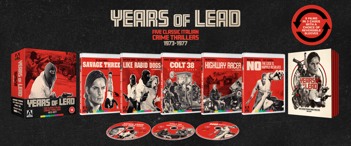 Years Of Lead Five Classic Italian Crime Thrillers 1973-1977 – Review pack