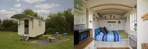 Yorkshire glampsites perfect for Autumnal glamping shephers's hut