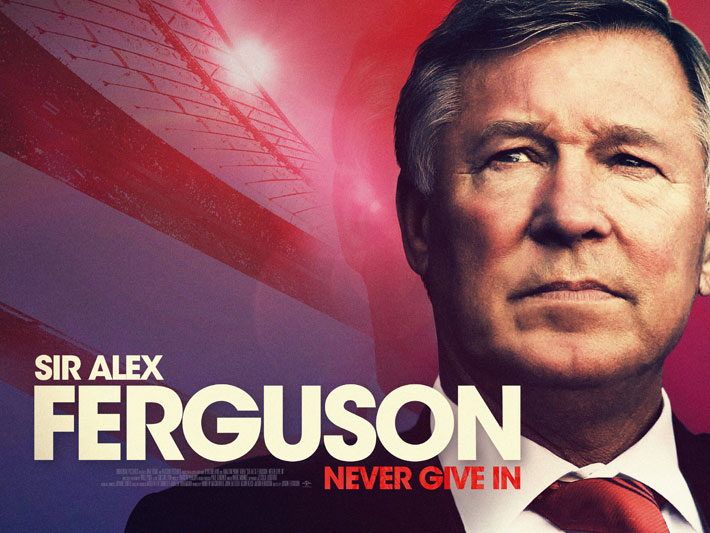 alex ferguson never give in film review poster