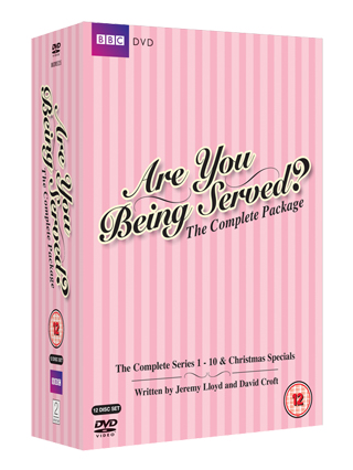 are you being served the complete package dvd review cover