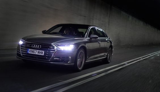 audi a8 car review side front