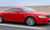 audi tt tdi quattro red car fast on road