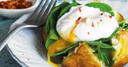 bannisters florentine baked potatoes recipe poached egg