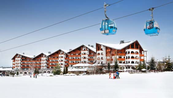 bansko bulgaria travel review Hotel back facade and Gondola lift