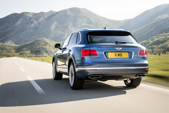 bentley bentayga diesel car review rear