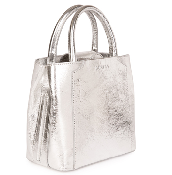 LUXTRA LUXTRA's silver mini handbag is 100% vegan, made in Italy from an Italian recycled nylon. It can be worn day or night and has a detachable shoulder strap. It's delivered in recycled and recyclable packaging and comes with an organic cotton dust bag for safe storage when not in use. £250 from https://luxtralondon.com/collections/vegan-mini-handbag/products/mini-silver