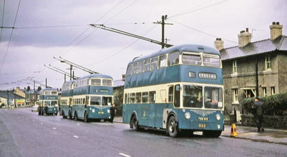 bradford buses history East Lancs-rebodied trolleybus - Copy