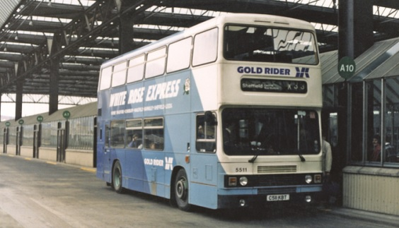 bradford buses history Yorkshire Rider's Optare-bodied Leyland Olympian No. 551