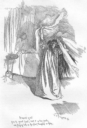 The maniacal Bertha Mason as illustrated by F H Townsend for the second edition of Jane Eyre published in 1847. image: Wikimedia Commons
