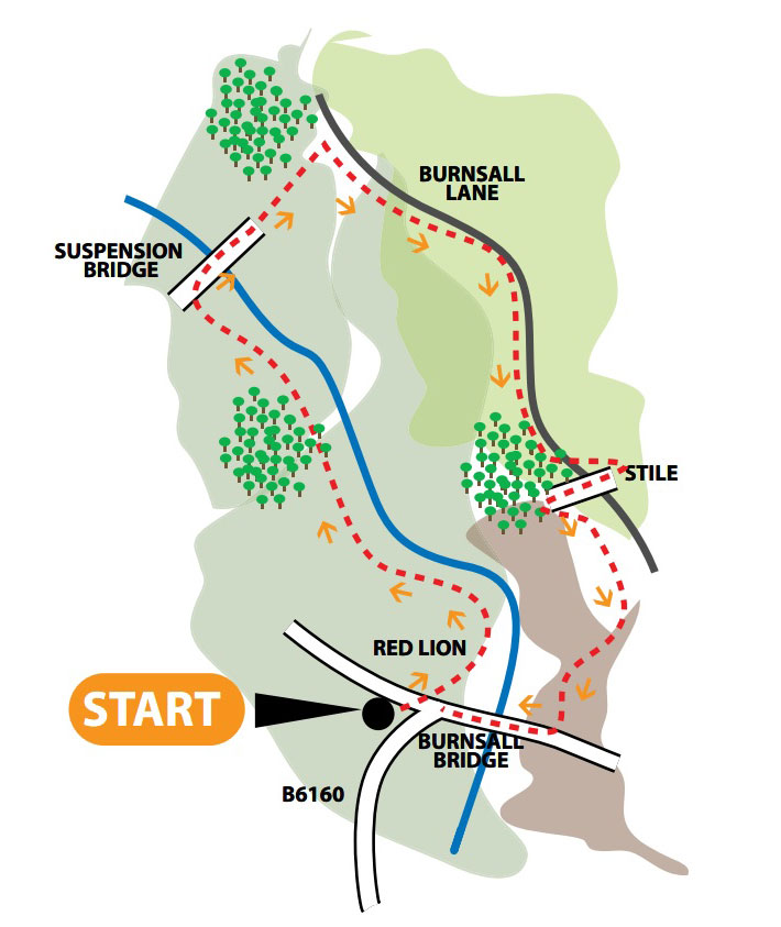 burnsall walk map