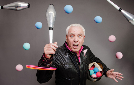 dave spikey interview juggling on a motorbike