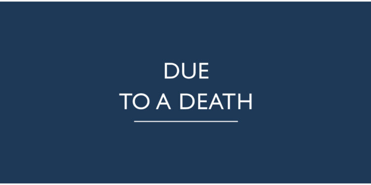due to a death mary kelly book review logo