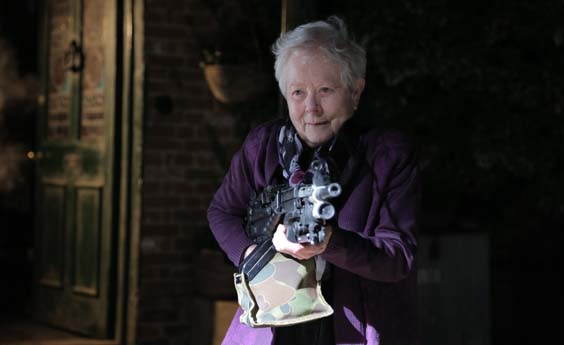 eat locals film review granny with a machine gun