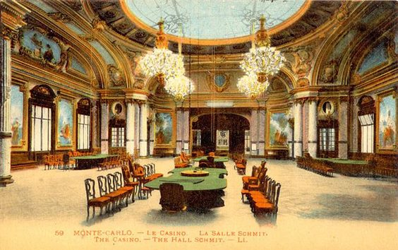 englishman who broke the bank at monte carlo postcard