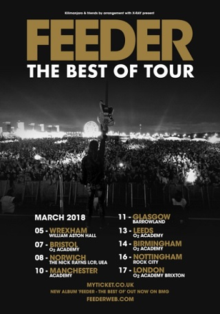 feeder live review leeds o2 academy march 2018 poster
