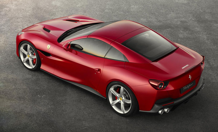 ferrari portofino car review top rear