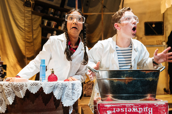 george's marvellous medicine review sheffield lyceum january 2018 Chandni Mistry (Chicken) and Preston Nyman (George)