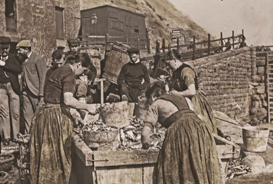historic scarborough in old photographs herring girls
