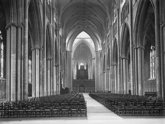historic york Interior view of York Minster