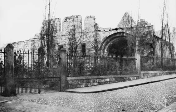 historic york St Mary's Abbey remains and St Leonard's Hospital, Museum Gardens in 1854
