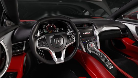 honda nsx car review interior
