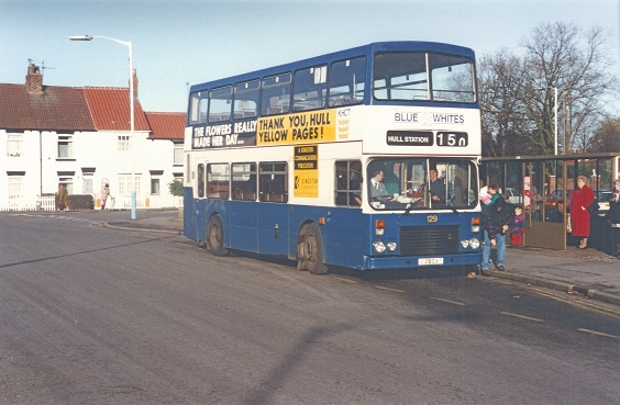 hull corporation buses Dominator No. 129, 1992. (Malcolm Wells)