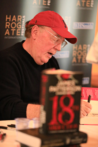james patterson interview in conversation harrogate crime writing festival 2019 portrait