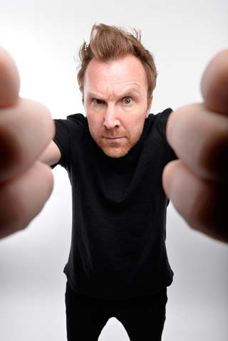 jason byrne live review lawrence batley theatre huddesrsfield october 2017 comedian man with three brains