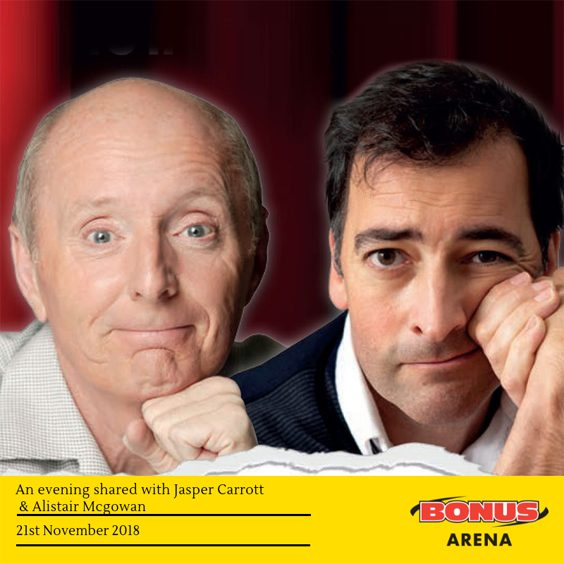 jasper carrott alistair mcgowan live comedy review hull bonus arena november 2018 stand up