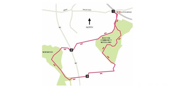 kiveton community woodlands walk map
