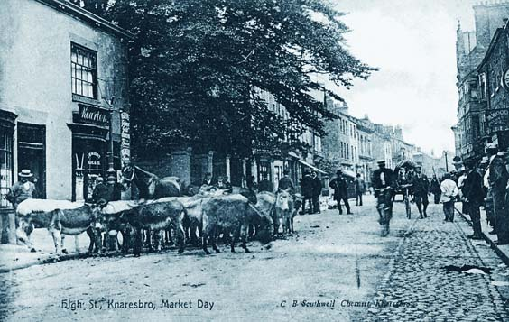 knaresborough history High Street Donkeys